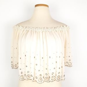 Chan Luu Beaded Off Shoulder Tio